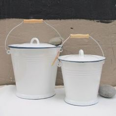 enamel bucket, I can think of dozens of uses for these