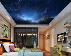 ceiling galaxy, ceiling wallpaper, nebula wall mural, self-adhesive vinly, universe wallpaper, star wall mural, nebula ceiling wallpaper