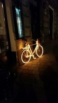 Bicycle during night