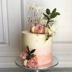 50th Birthday Cake For Women, Birthday Cake For Women Elegant, Elegant Birthday Cakes, First Birthday Cake Topper, 60th Birthday Cakes, Beautiful Birthday Cakes, Birthday Cakes For Adults, Custom Birthday Cakes, Birthday Cake With Flowers