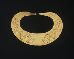 ECUADOR | Nose Ornament with Snakes, 2nd century BCE–2nd century CE. Ecuador or Peru. The Metropolitan Museum of Art, New York.