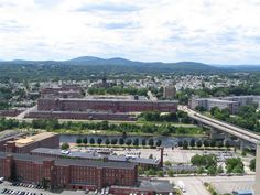 This is a beautiful view of the largest city in New Hampshire.
