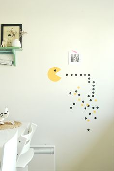 pacman on the wall-Evan