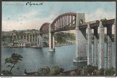 Saltash Bridge, Cornwall and Plymouth, Devon, 1904 - Valentine Postcard