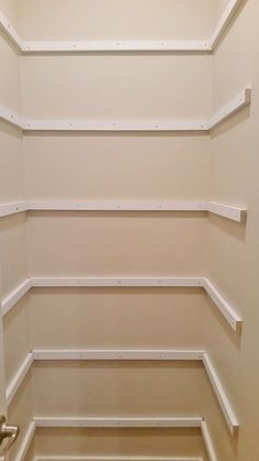 pantry makeover with wrap around shelving                                                                                                                                                     More