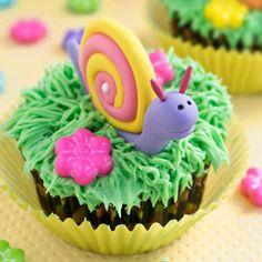 Snail Cupcakes Tutorial