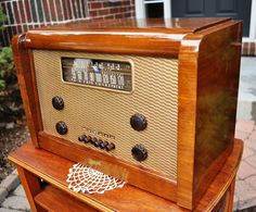 Restored Antique Vintage Marconi 238 Wood Deco RARE Tube Radio Works Perfect | eBay