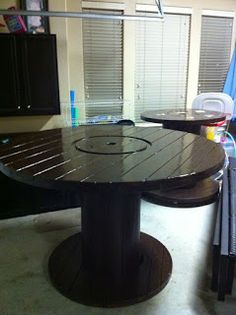 I Like The Idea Of The Small Base And Larger Table Top. I Would Add · Cable  Spool ...