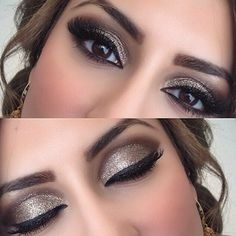 Saturday Make-up: Shimmery eyes!