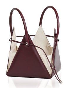 A very peculiar design of a leather handbag