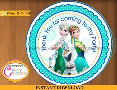 A personal favorite from my Etsy shop https://www.etsy.com/listing/232332493/frozen-fever-favor-tags-sticker-party