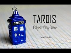 Doctor Who TARDIS Polymer Clay Charm Tutorial