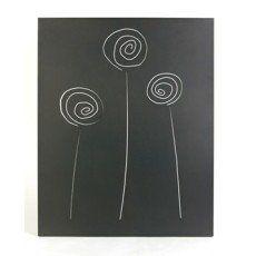Plaque de protection murale en acier, coloris noir givré, Selene L.80 x H.100 cm