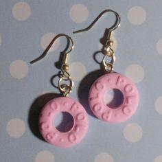 Pastel Pink Polo Earrings
