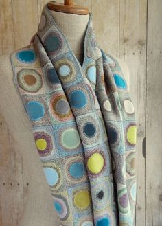 """""""Coeur velvet"""" scarf AI by Sophie Digard"""