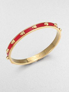 Alexander McQueen Skull Enamel Bracelet on shopstyle.com