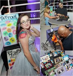 Bat Mitzvah Party Favors & Entertainment - Airbrush Tattoos & Hats {Party Planner: Florie Huppert Design, Photography by 5th Avenue Digital} - mazelmoments.com