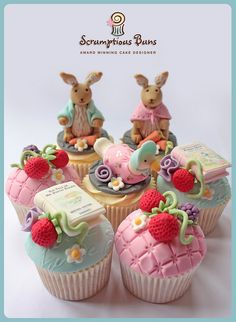 Beatrix Potter Collection in pink by Scrumptious Buns (Samantha), via Flickr