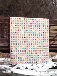 crazy mom quilts: dot your i's-a completed quilt