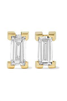 Ileana Makri - 18-karat Gold Diamond Earrings - one size