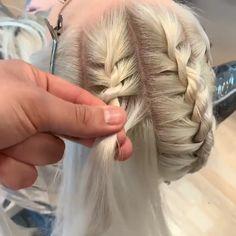 Hairdo For Long Hair, Hair Due, Easy Hairstyles For Long Hair, Diy Hairstyles, Medium Hair Styles, Curly Hair Styles, Hair Style Vedio, Girl Hair Dos, Amazing Braids