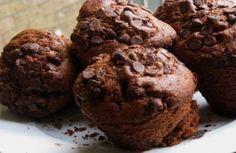 Gluten free scrumptious choc chip chocolate muffins: I add 1 tsp kosher salt to the batter because it ups the yum factor :)