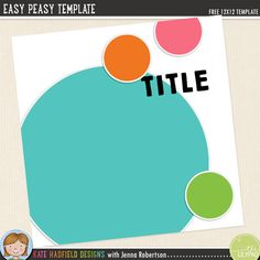 FREE template by Kate Hadfield and Jenna Robertson