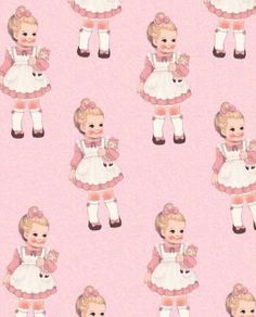 We Heart It 経由の画像 #baby #cute #dolly #pink #wallpaper