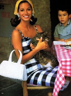 """Postcard From Portofino"", Vogue US, December 1992Photographer : Arthur ElgortModel : Christy Turlington"