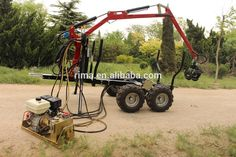 Atv rückewagen mit greifer kran traktor anhänger mit kran ...