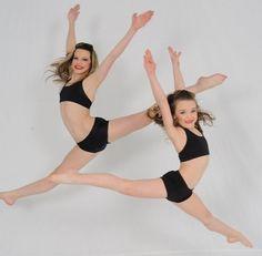 Ryleigh and Kendall Vertes. #Dancemoms #Kendallvertes #Ryleighvertes #Leap #Dance