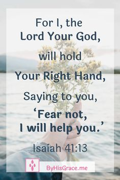 When you feel along or afraid, take a small act of faith and invite Jesus to hold your hand. Take a little initiative to show Him you know He's there. Bible Verses About Love, Bible Verses Quotes, Quotes About God, Bible Scriptures, Spiritual Encouragement, Spiritual Quotes, Inspirational Phrases, Bible Prayers, Faith Prayer