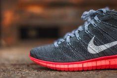 "online retailer 376a2 7a83d Nike Free Flyknit Chukka ""Dark GreyHot Lava"" Nike Free Flyknit, Dark"
