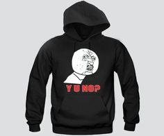 Y U No ? meme Face Hoodie