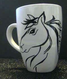Hand Painted Ceramic Coffee Mug via Etsy