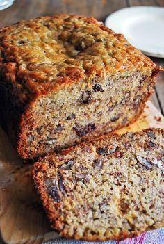 Receta pan de platano, una de mis recetas preferidas, es facil de hacer y super sabrosa.  www.saboresdemihuerto.com