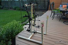 DIY PVC bow stand