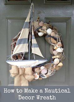 How to Make a Nautical Decor Wreath. #wreath #art #crafts