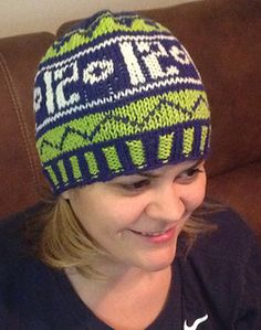 Celebrate the Superbowl Champs with this fun Fair Isle hat!