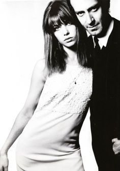 Jane Birkin and John Barry photographed by David Bailey, 1965.