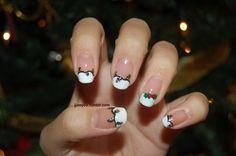 christmas french nails!