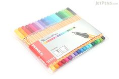 Stabilo Point 88 Mini Fineliner Marker Pen - 0.4 mm - 18 Color Set - Wallet - STABILO 688-18-1