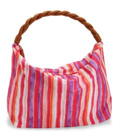 b0b29cadbe6d Braided Strap Striped Canvas Tote from Aeropostale Striped Canvas