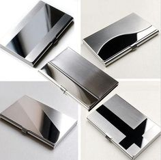Waterproof Stainless Steel Silver Aluminium Metal Case Box Business ID Credit Card Holder Case Cover L09407