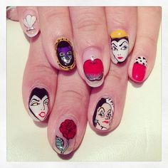 Snow White Nail Art, Like and Share if you want ♥
