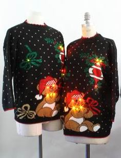 Lightup Ugly Christmas Sweaters. Awesome.