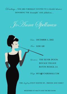 Breakfast at Tiffany's Bridal Shower Invitation / Breakfast at Tiffany / Breakfast at Tiffany's Birthday Digital File You Print 5x7