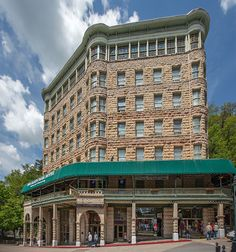 Downtown Eureka Springs, Basin Park Hotel by Tim Wemple Photography
