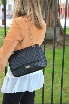 #vintage #cute #quilted #bag with #chain straps
