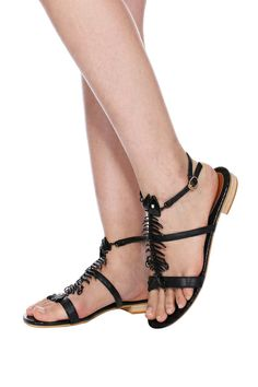 Shop ROMWE Skeleton Black Sandals at ROMWE, discover more fashion styles online. Black Sandals, Gladiator Sandals, Latest Street Fashion, Romwe, Skeleton, Fashion Shoes, Fashion Beauty, Street Style, Shopping